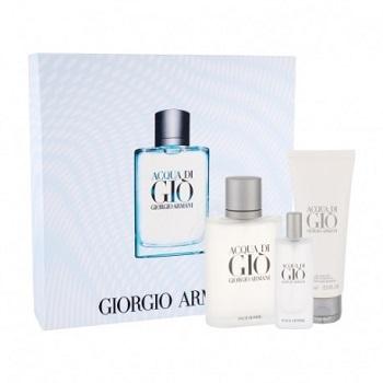5dd1bd6213 Acqua di Gio edt 100ml + tusfürdő 75ml + edt 15ml (férfi parfüm szett)